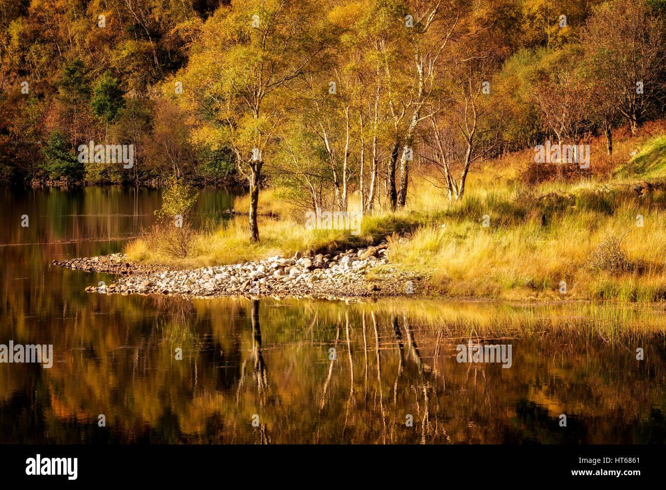Autumn in the Scottish Highlands, Scotland, United Kingdom - Stock Image