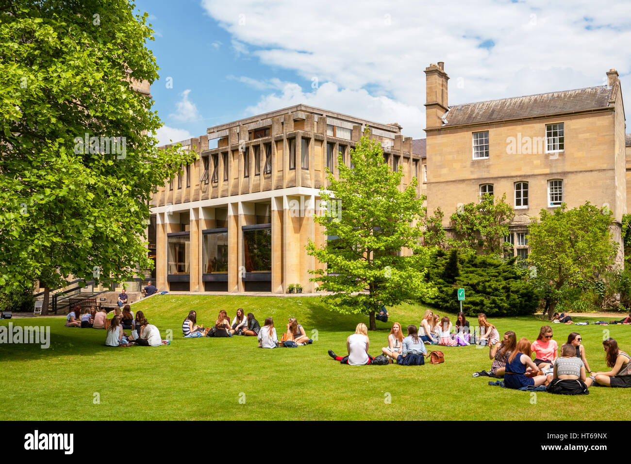 Students in Balliol College. Oxford, England - Stock Image