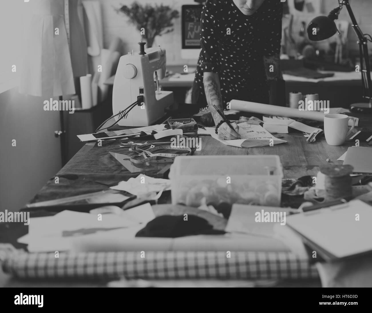 Fashion Designer Stylish Showroom Concept - Stock Image