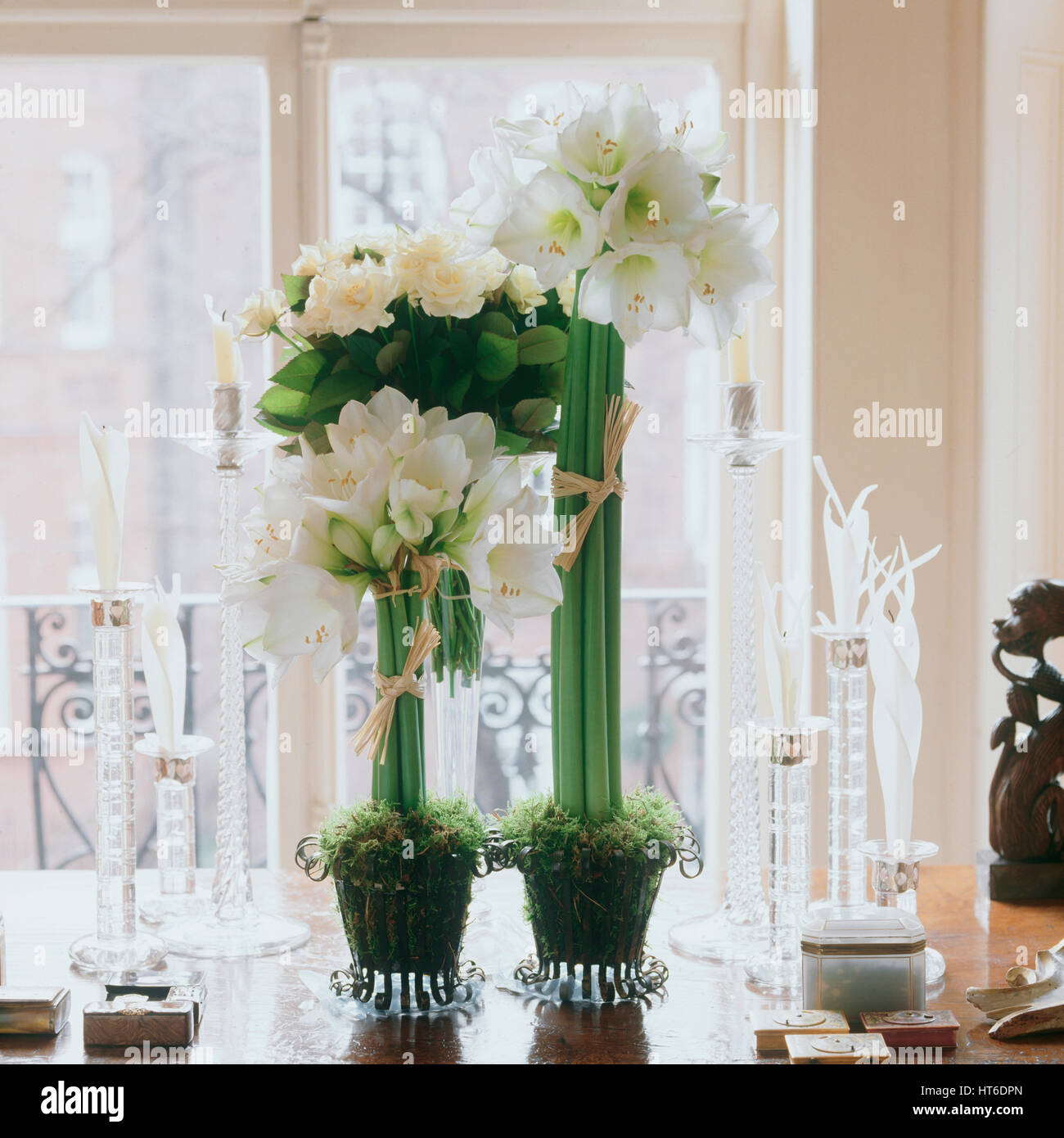 Flowers On A Dining Table.   Stock Image