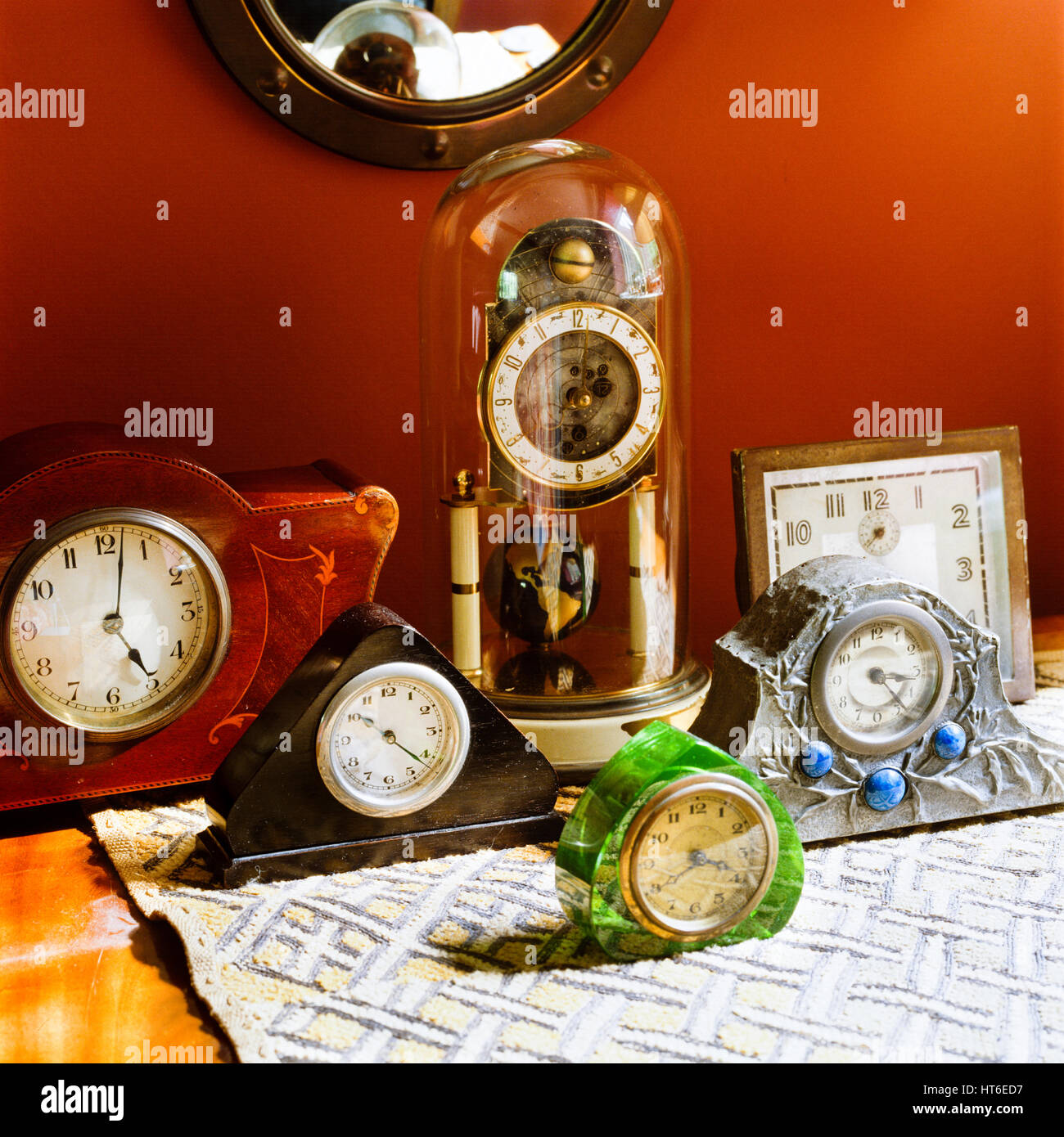 Collection of clocks. - Stock Image