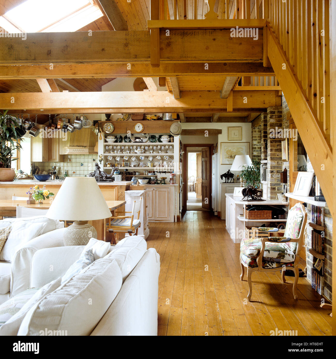 Open plan living space. - Stock Image