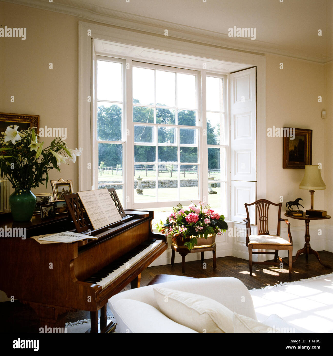 Piano In Living Room.   Stock Image