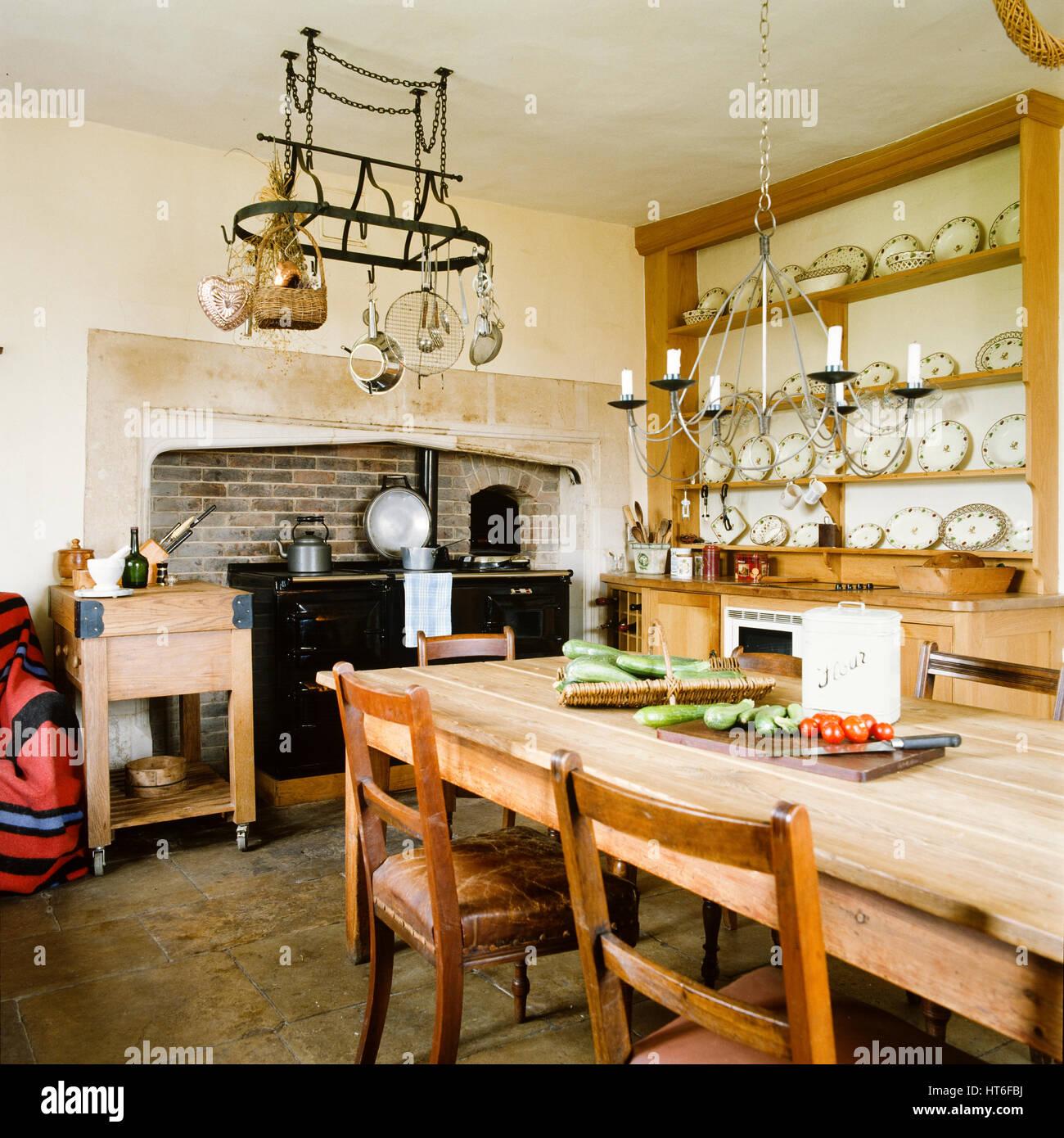 Heritage Kitchen Furniture Table Stock Photos Heritage Kitchen