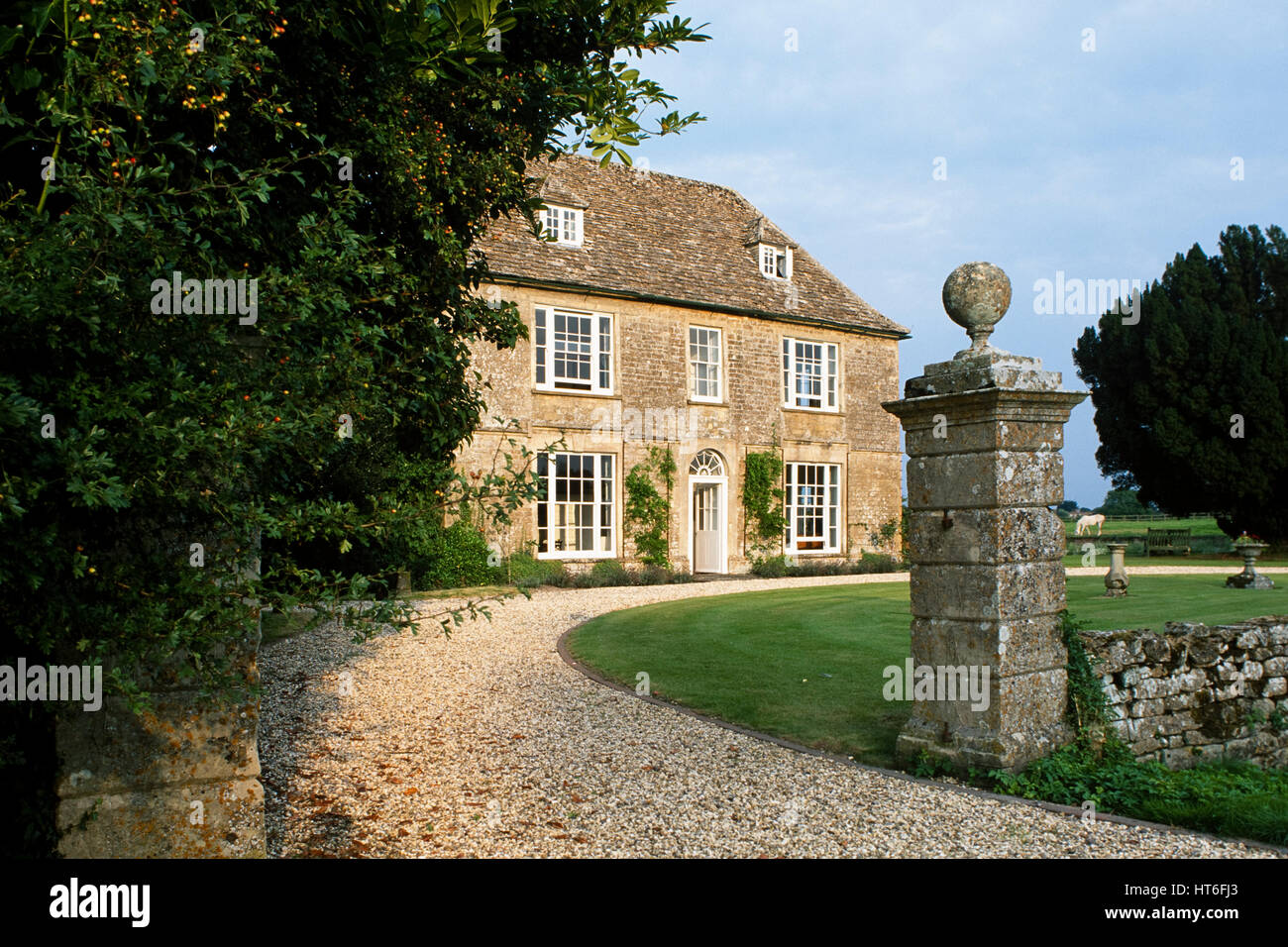Driveway of country house. - Stock Image