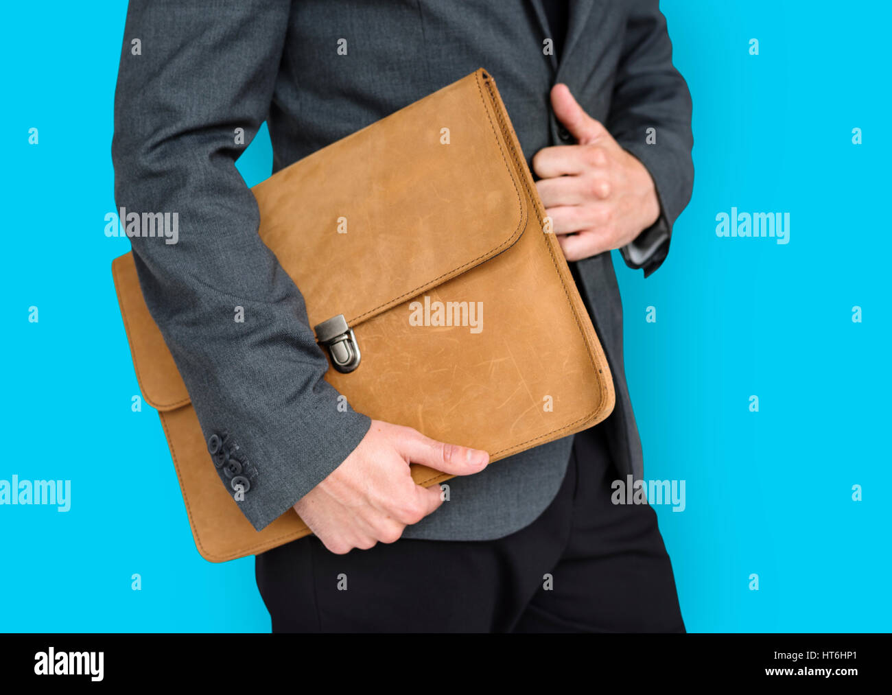 Formal Wear Brown Folder Bag Concept - Stock Image