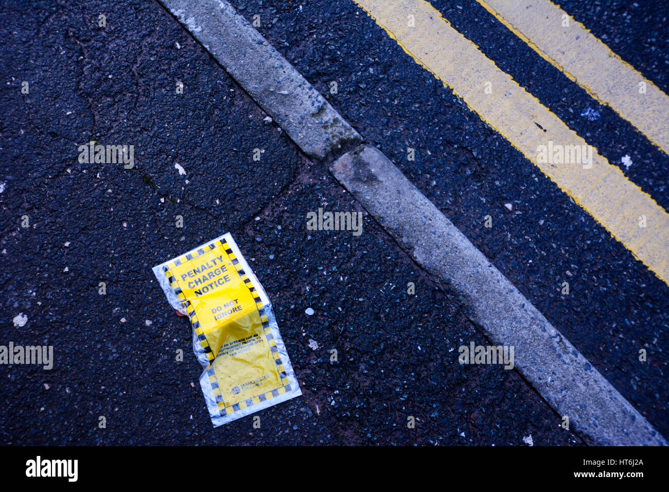 Discarded Penalty Charge Notice (Parking Ticket) - Stock Image