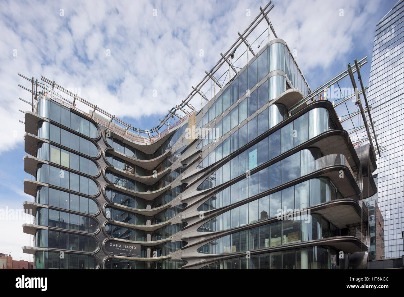 520 West 28th Street Condominium Residences, designed by Zaha Hadid - Stock Image