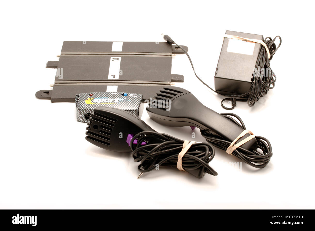 Scalextric advanced track system, C8217 Sport Power and controller with transformer. Two enhanced specification - Stock Image