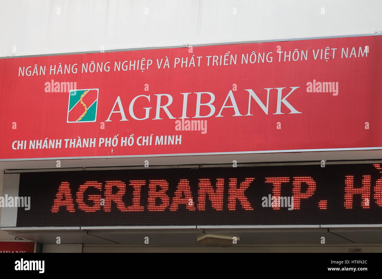 Vietnam Bank for Agriculture and Rural Development known as Agribank is the largest commercial bank in Vietnam by - Stock Image