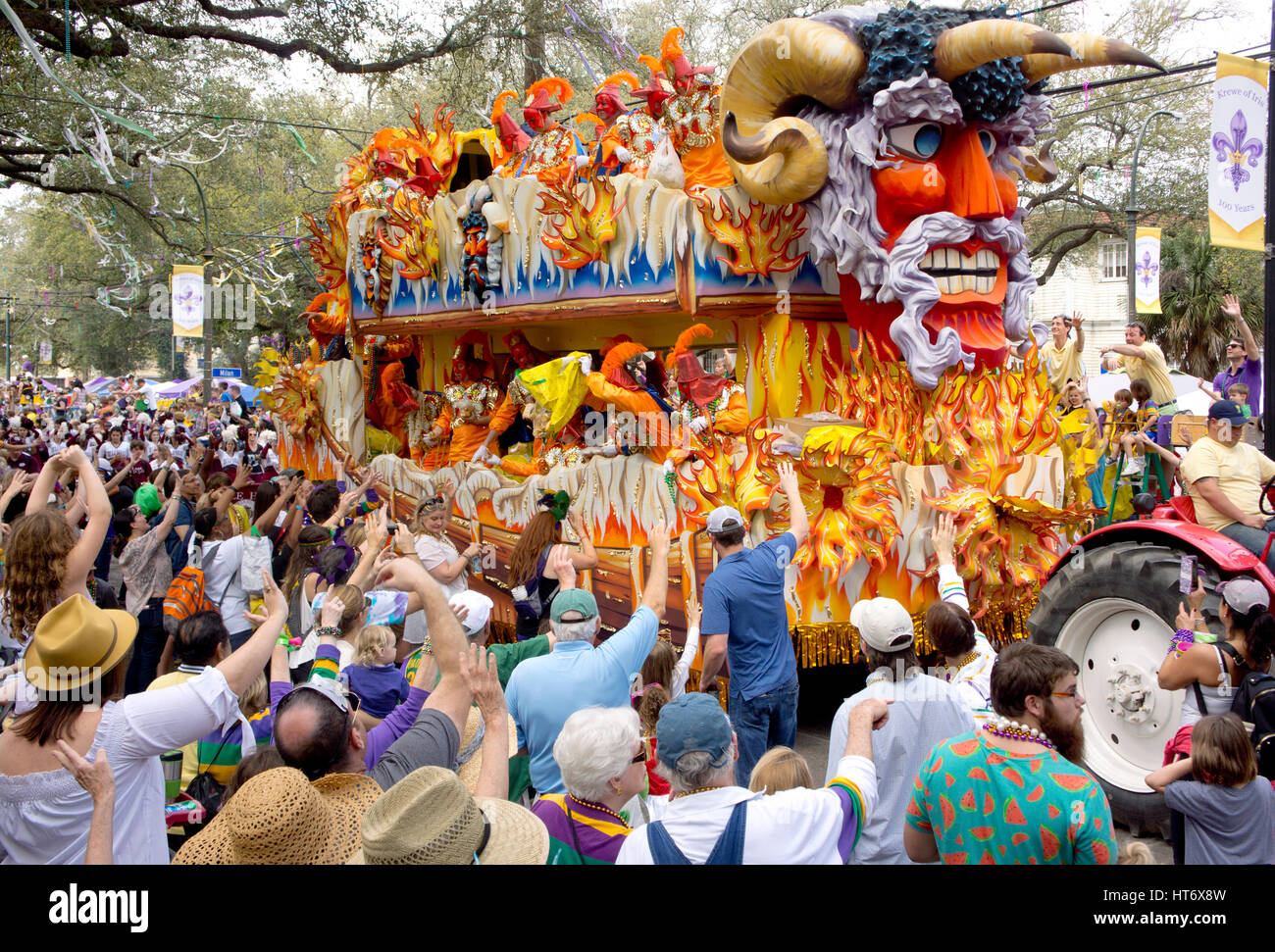 Image result for New Orleans parade crowds