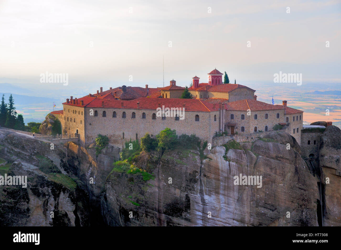 Meteora Monasteries located north of Greece in the region of Thessaly - Stock Image