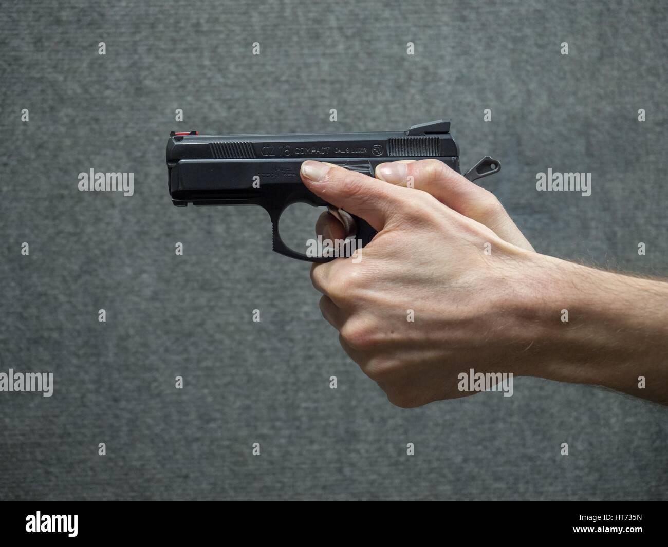 CZ 75 D Compact cal. 9 Luger pistol - Stock Image