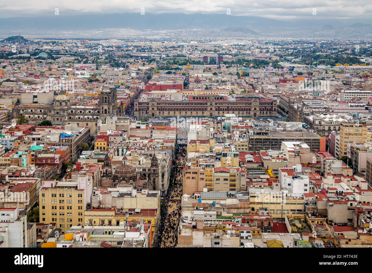 Aerial view of Mexico City - Mexico - Stock Image