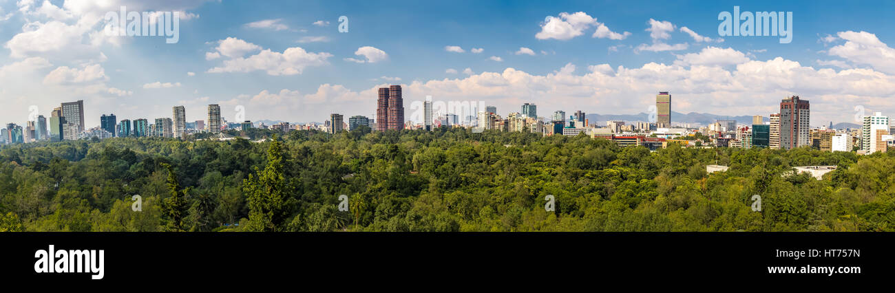 Panoramic View of Mexico City - Stock Image