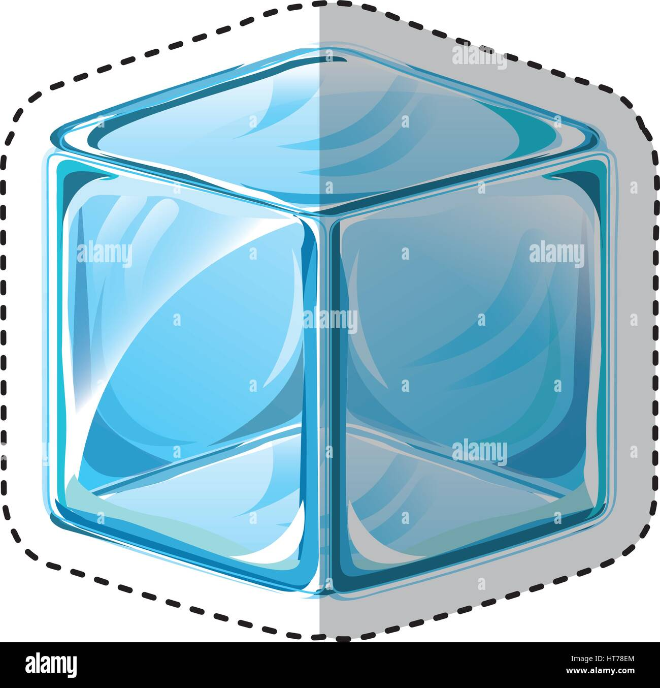 ice cube isolated icon - Stock Vector