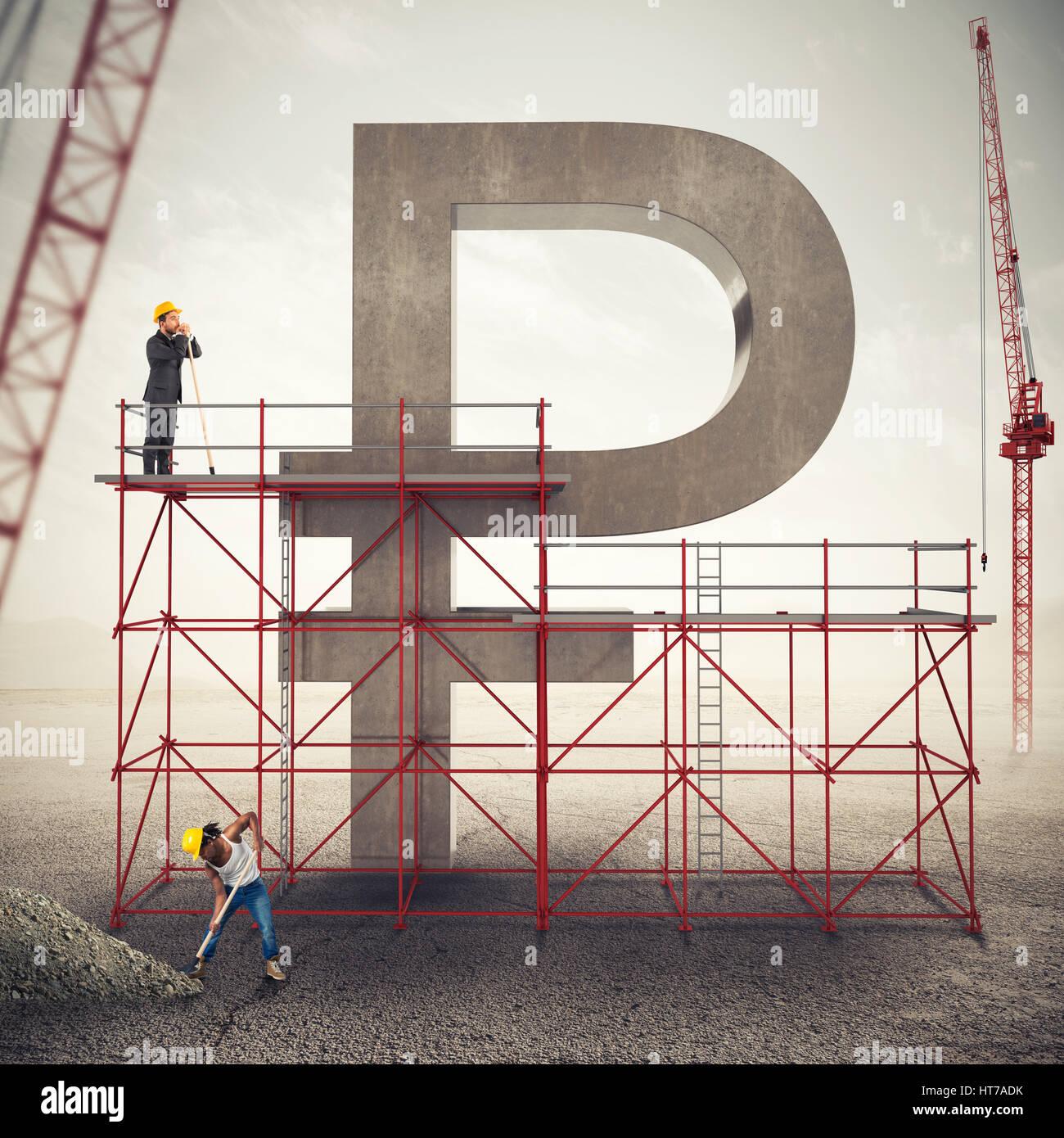 Strengthen ruble economy . 3D Rendering - Stock Image
