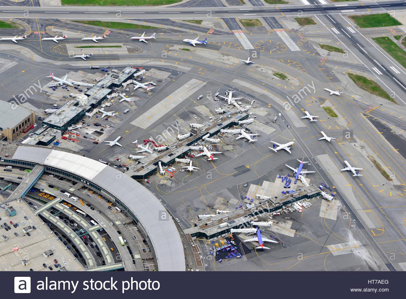LaGaurdia Airport Terminals LGA NewYork - Stock Image