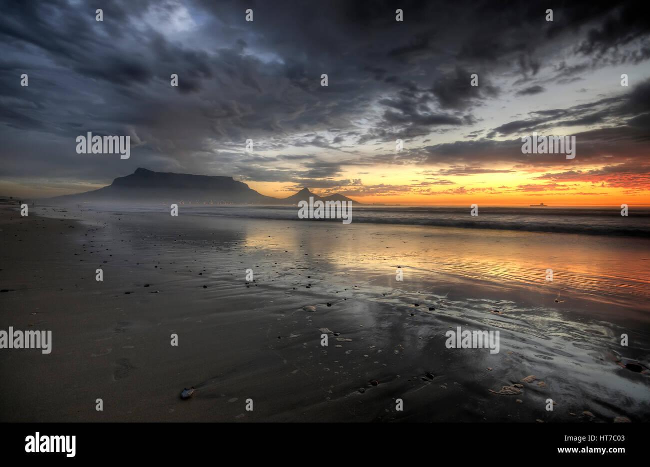 Table Mountain Sunset BeachStock Photo