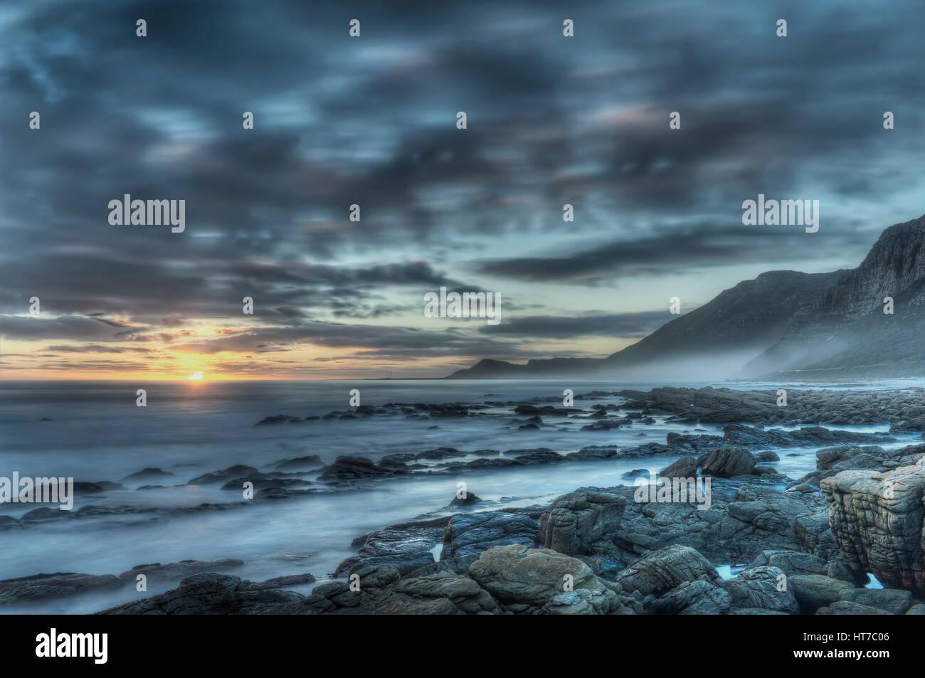 Sunset rocky oceanStock Photo