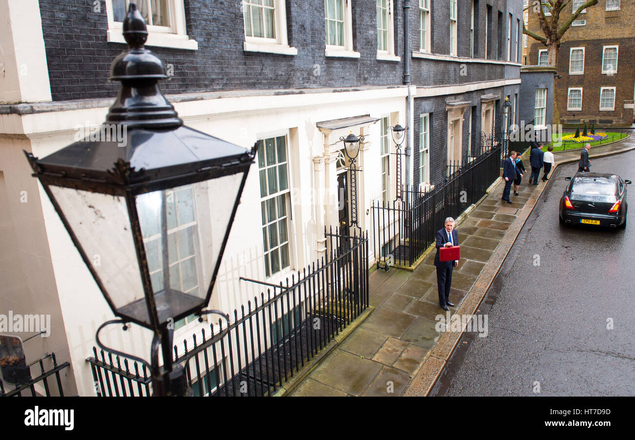 chancellor philip hammond departs 11 downing street london as he
