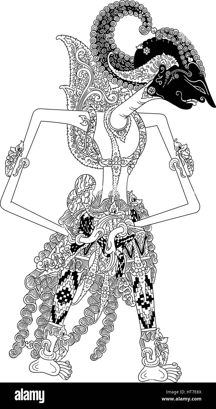 Arjunapati A Character Of Traditional Puppet Show Wayang Kulit From Stock Vector Image Art Alamy