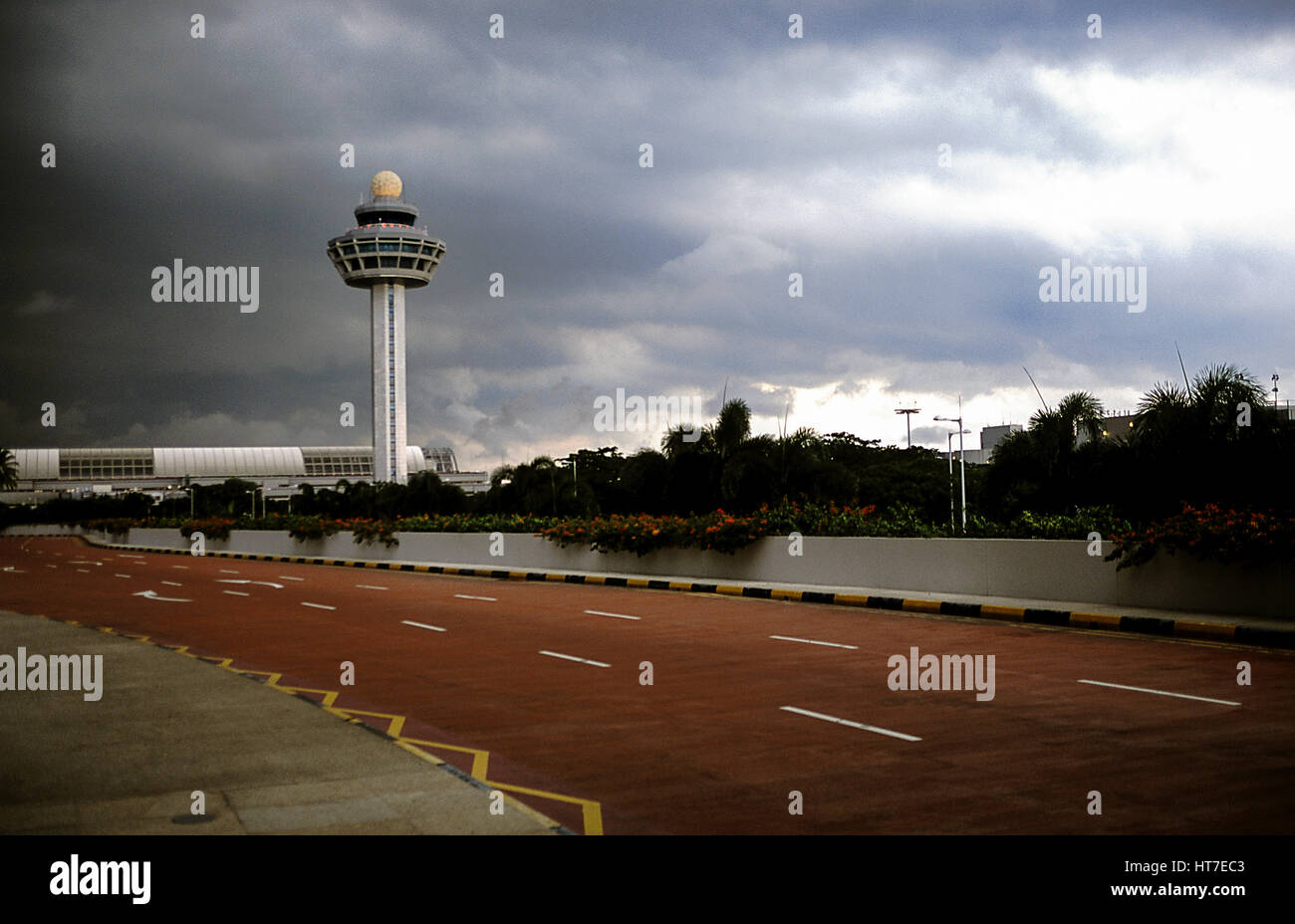 01.01.2010 - 31.12.2010, Singapore, Republic of Singapore, Asia - A view of the air traffic control tower at Singapore's - Stock Image