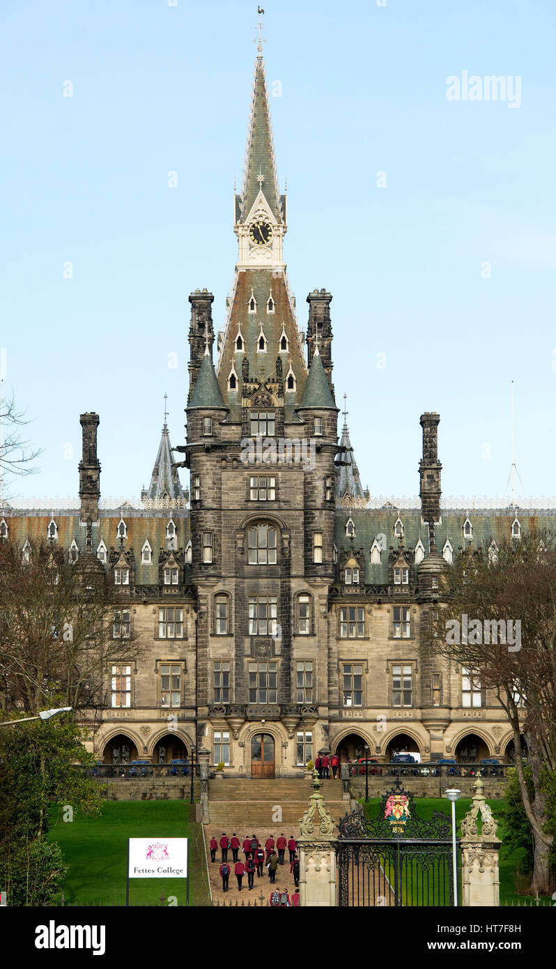 Fettes College in Edinburgh's New Town is the school where Tony Blair was educated. - Stock Image