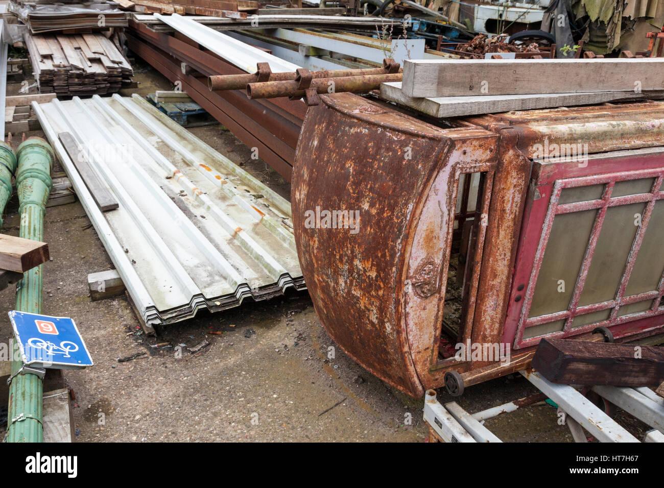Sorted scrap metal, England, UK - Stock Image