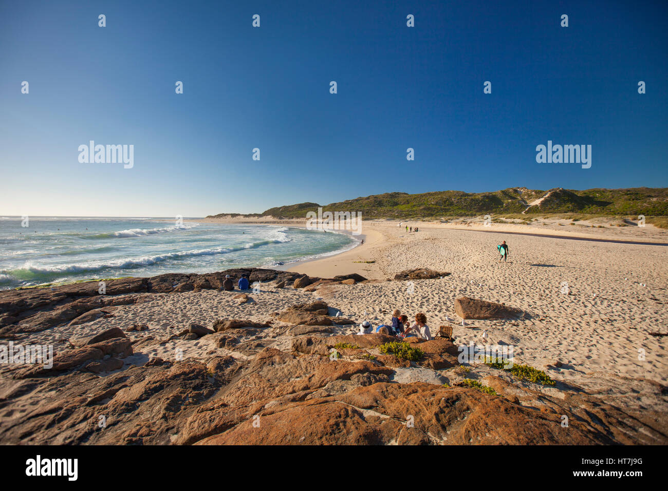 Prevelly Beach As Seen From Surfer's Point In Margaret River, Western Australia Stock Photo