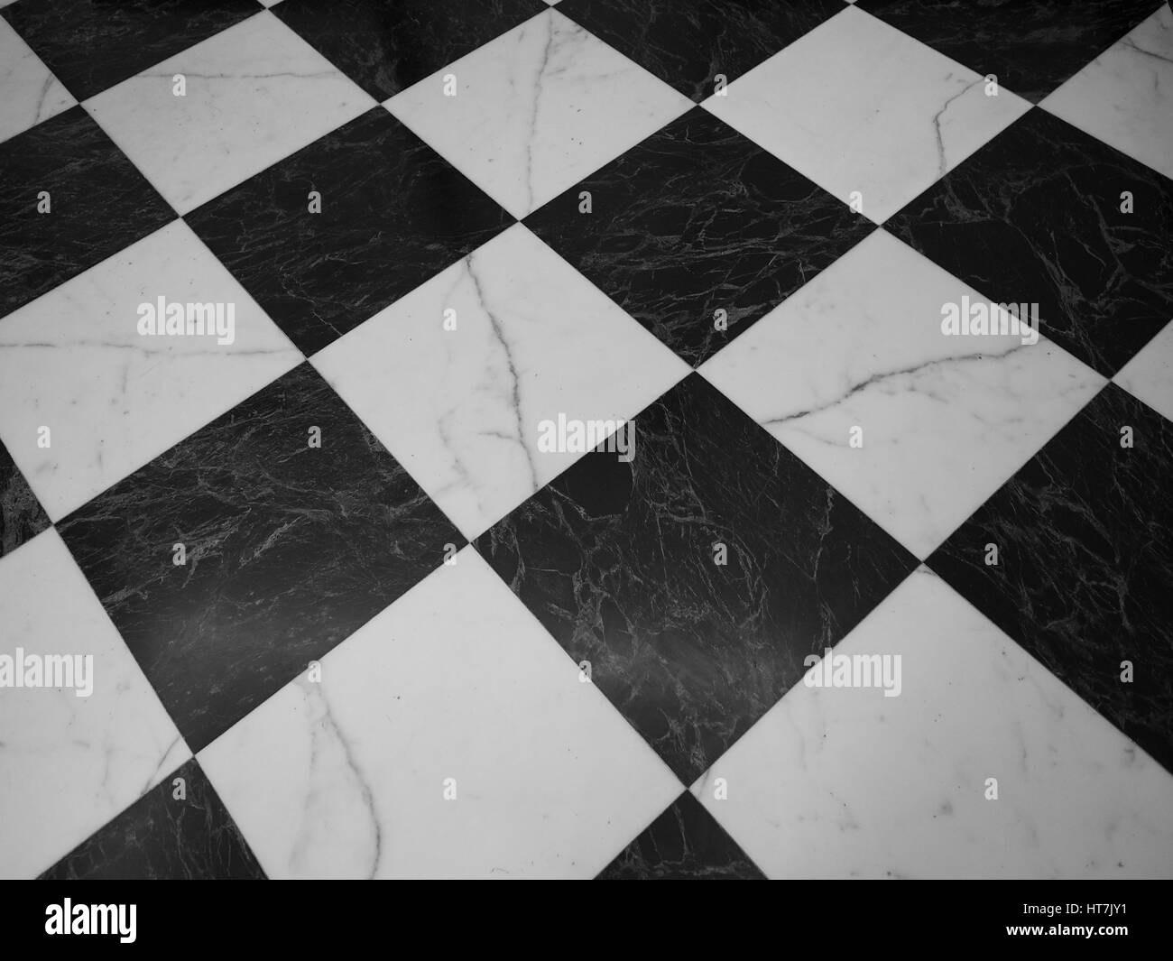 Vintage Black And White Marble Checkered Floor Useful As A Background Stock Photo Alamy