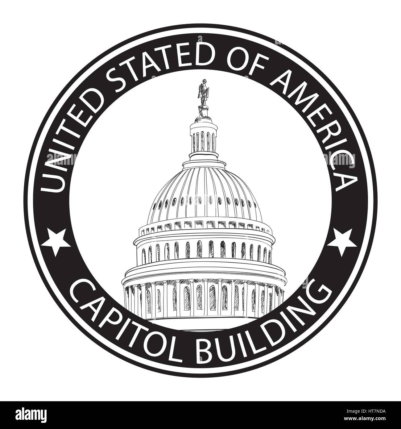Washington Dc Capitol Landscape Usa Pencil Drawing Capitol Stock Vector Image Art Alamy