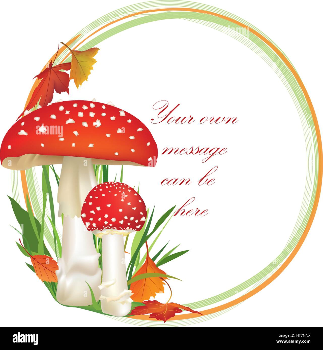 red poison mushroom autumn frame with copy space floral poison clip art image potion clipart