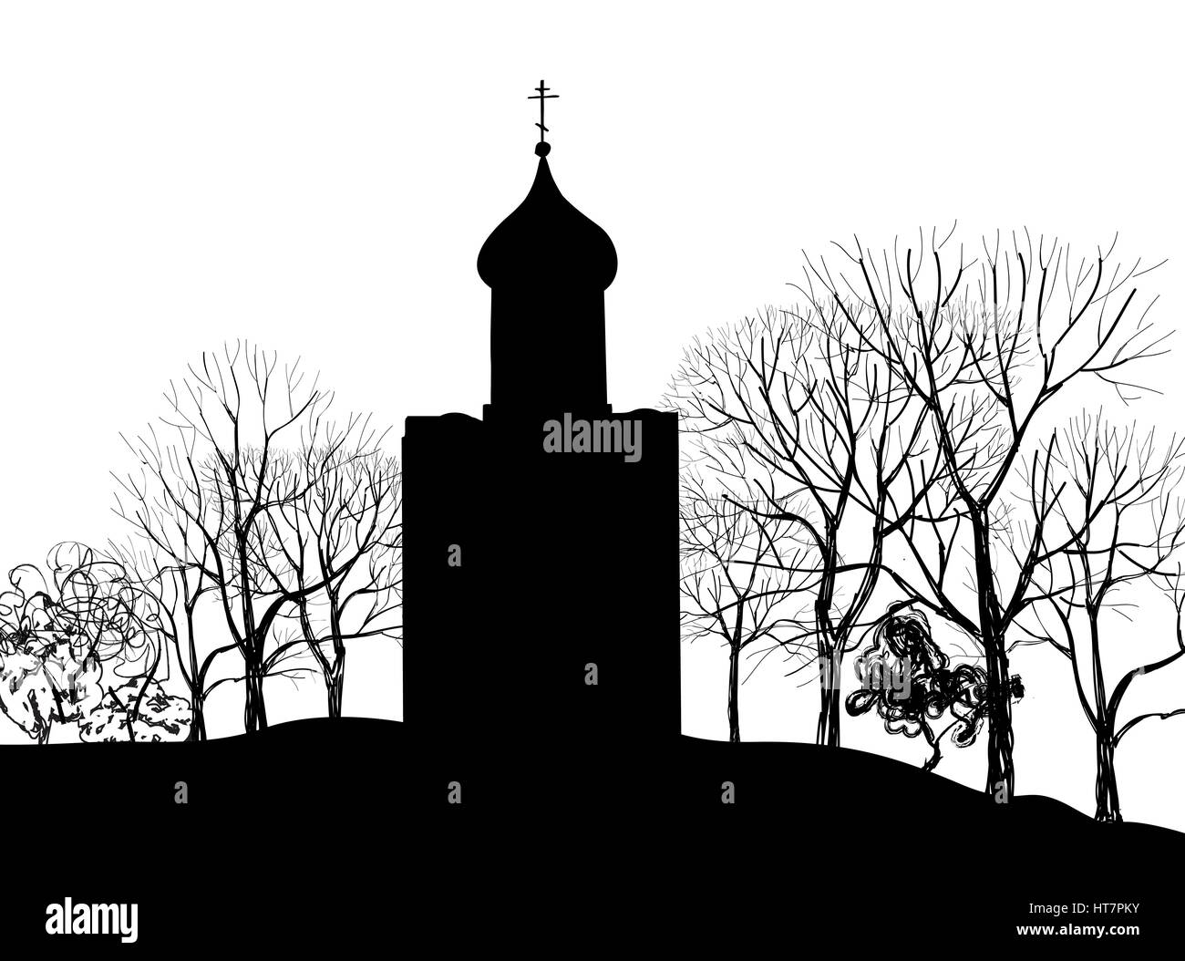 Old russian city landscape. Kolomna Kremlin cityscape. Tourist view - Stock Vector