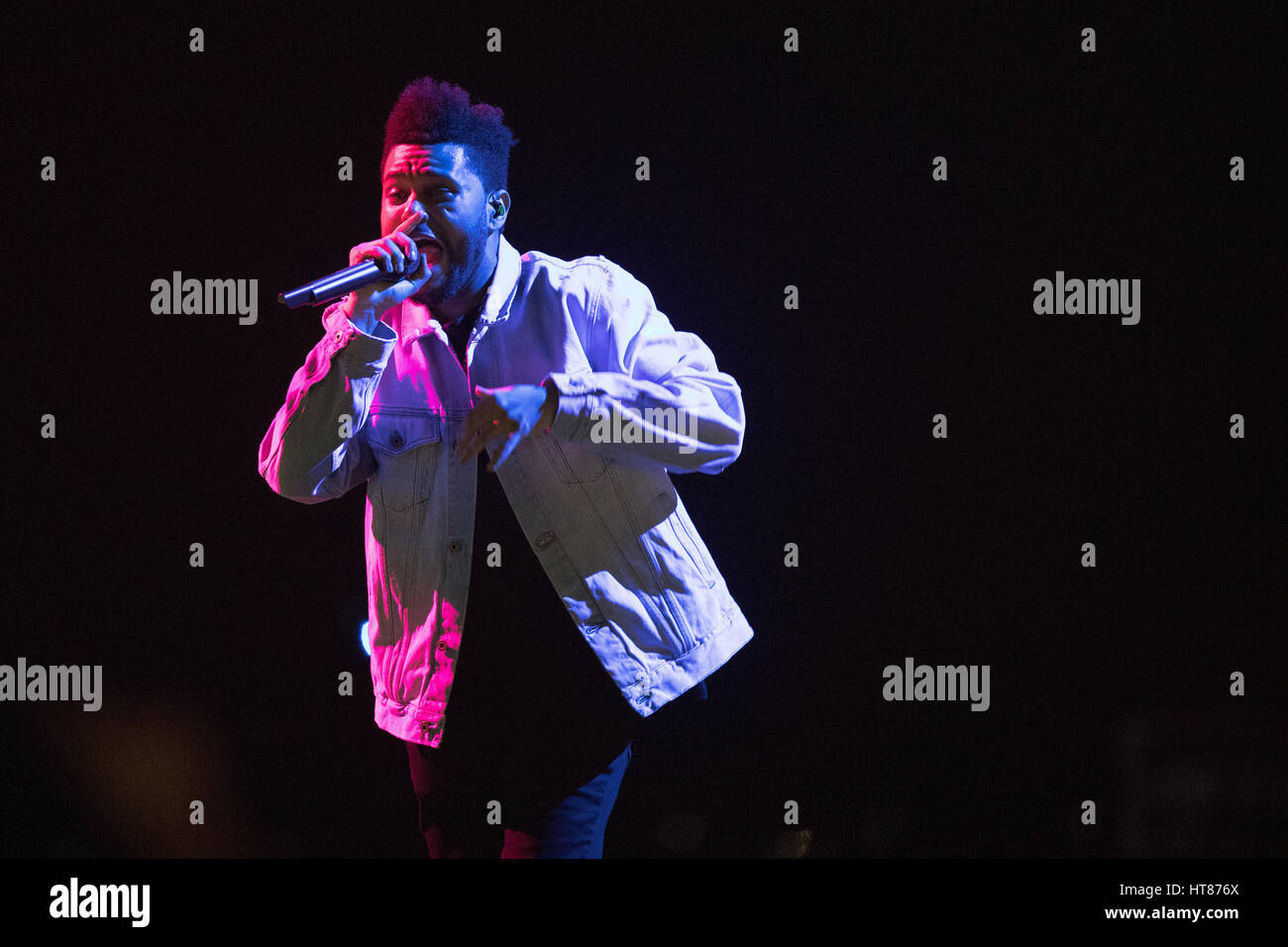 London, UK. 08th March, 2017. London, England, Abel Makkonen Tesfaye of The Weeknd, performs his second night at Stock Photo