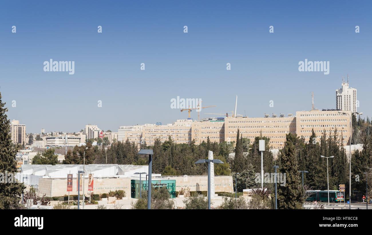 Israeli Ministry of Finance in Jerusalem - Stock Image