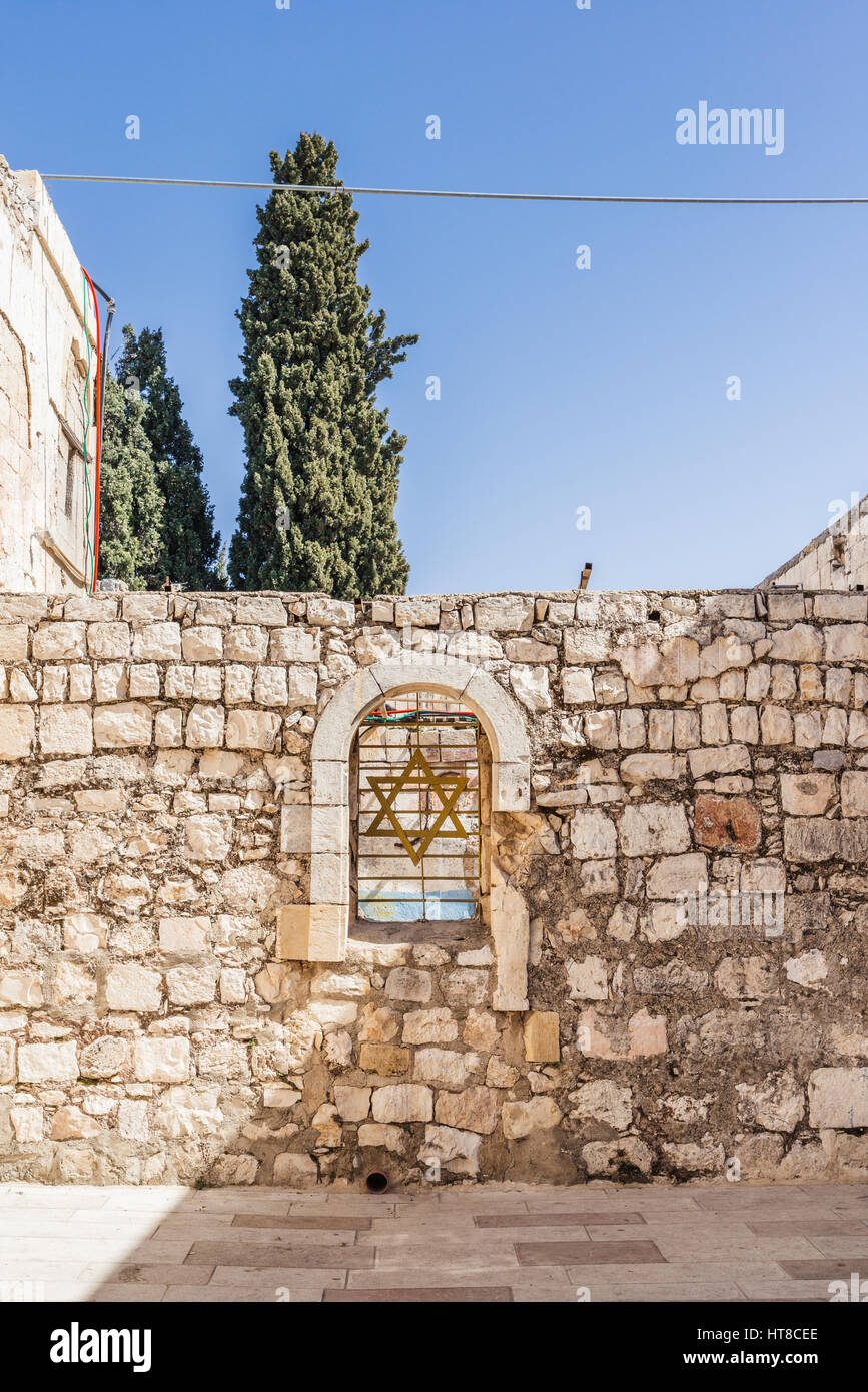 King David's Tomb in the Old City of Jerusalem, Israel - Stock Image