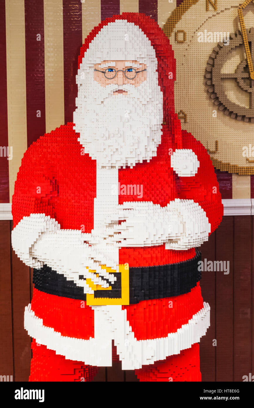 England London Leicester Square Lego Store Father Christmas Made Of