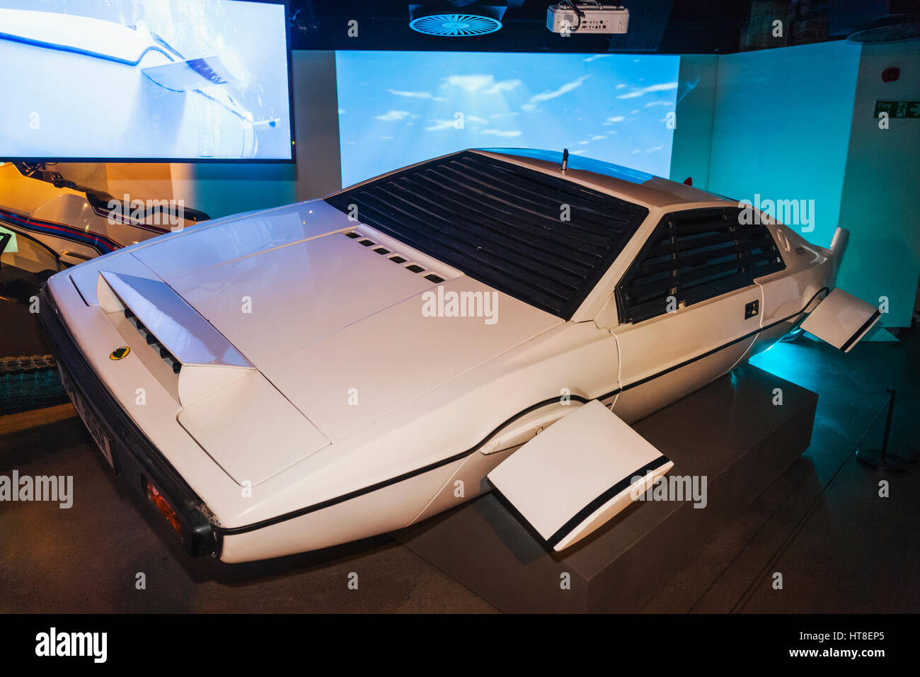 England, London, Covent Garden, London Film Museum, Lotus Esprit S1 Car from The James Bond Movie The Spy Who Loved - Stock Image
