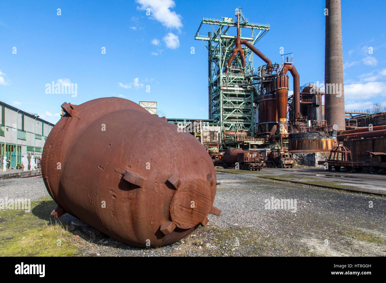 Henrichshütte, former steelworks, industrial museum, blast furnace, Hattingen, Germany, Stock Photo