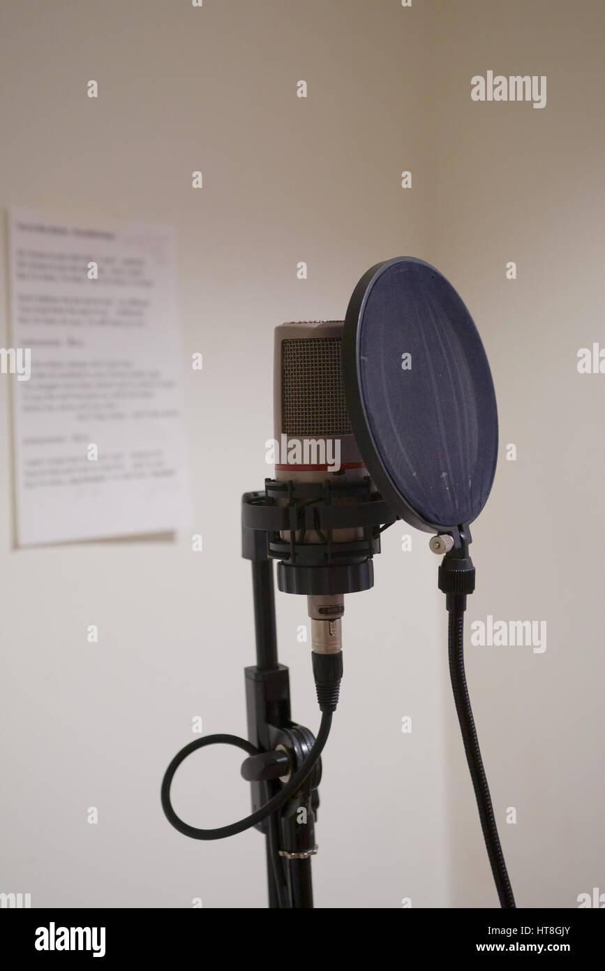 Zoe Schwarz Blue Commotion in the Studio - Stock Image