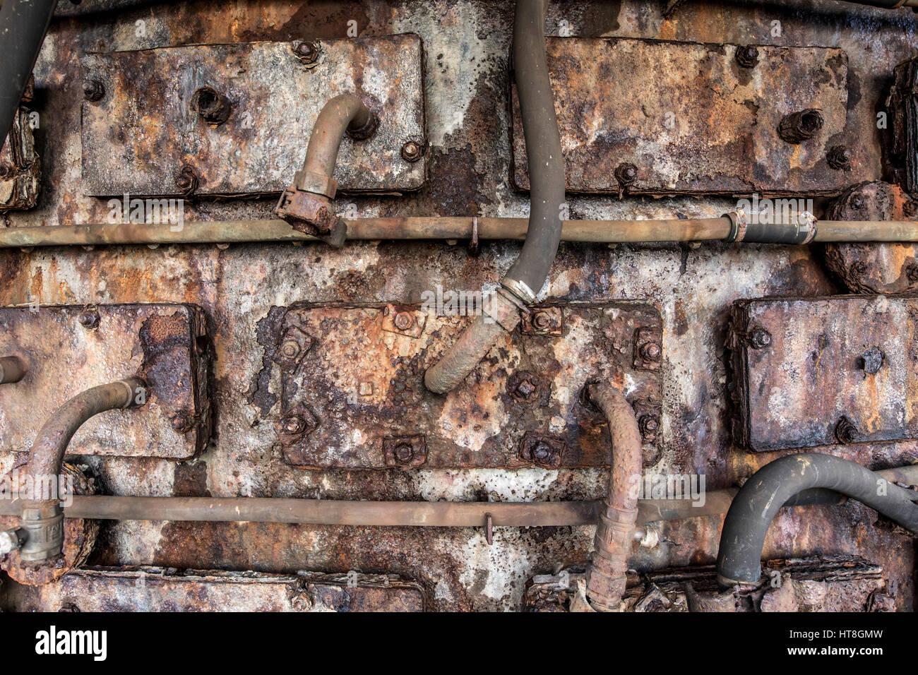 Henrichshütte, former steelworks, industrial museum, blast furnace, cooling system, Hattingen, Germany, - Stock Image