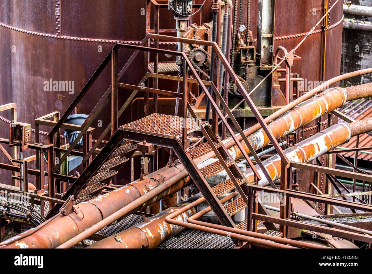 Henrichshütte, former steelworks, industrial museum, blast furnace, Hattingen, Germany, - Stock Image