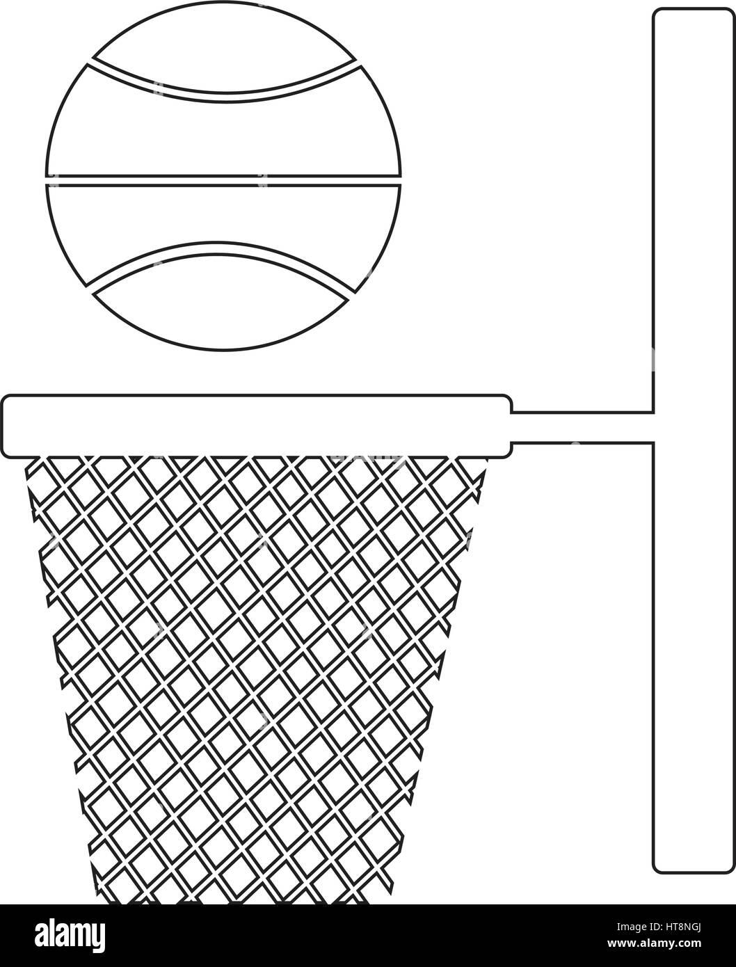 Basketball Hoop And Backboard Black White Stock Photos Images Diagram Net Icon Illustration Design Image