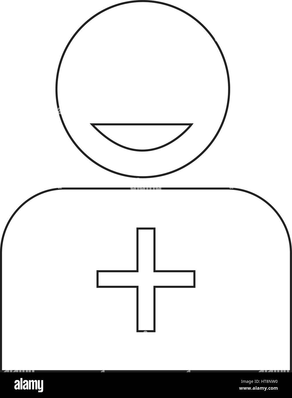 Add friend icon illustration idesign - Stock Image