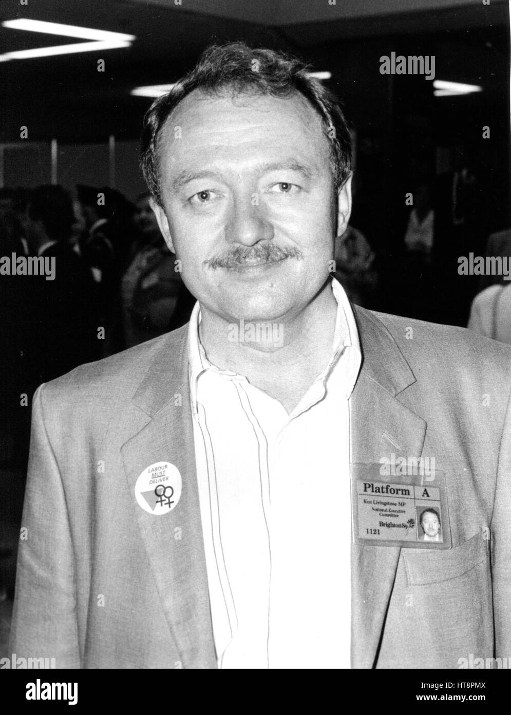 Ken Livingstone, Labour party Member of Parliament for Brent East, attends the party conference in Brighton, England - Stock Image