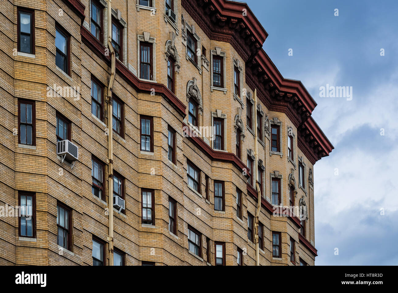 Architectural Details Of A Historic Highrise Building, In Mount Vernon,  Baltimore, Maryland.