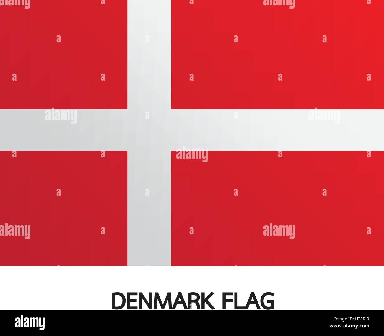 Denmark flag illustration design - Stock Vector