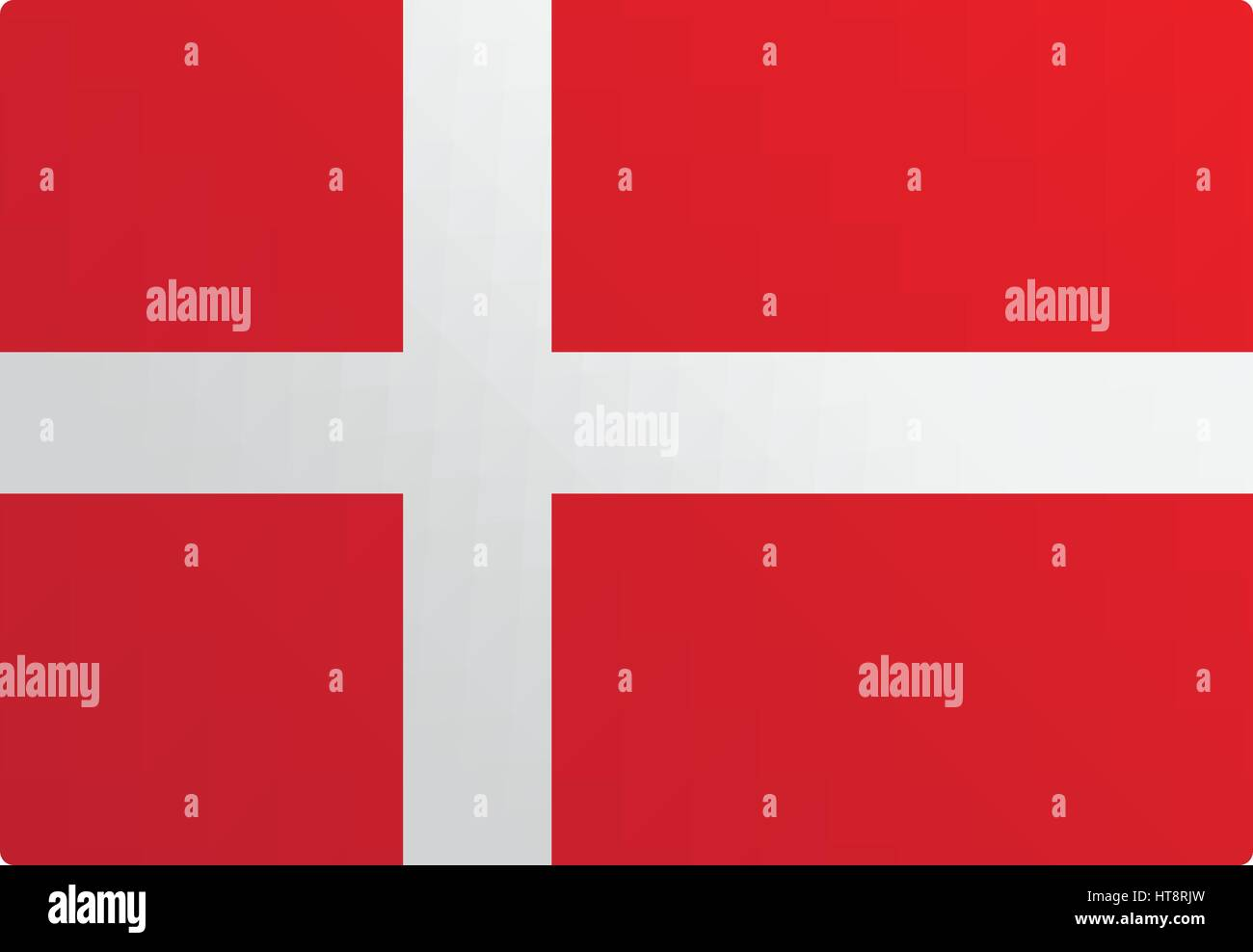 Denmark flag illustration design - Stock Image
