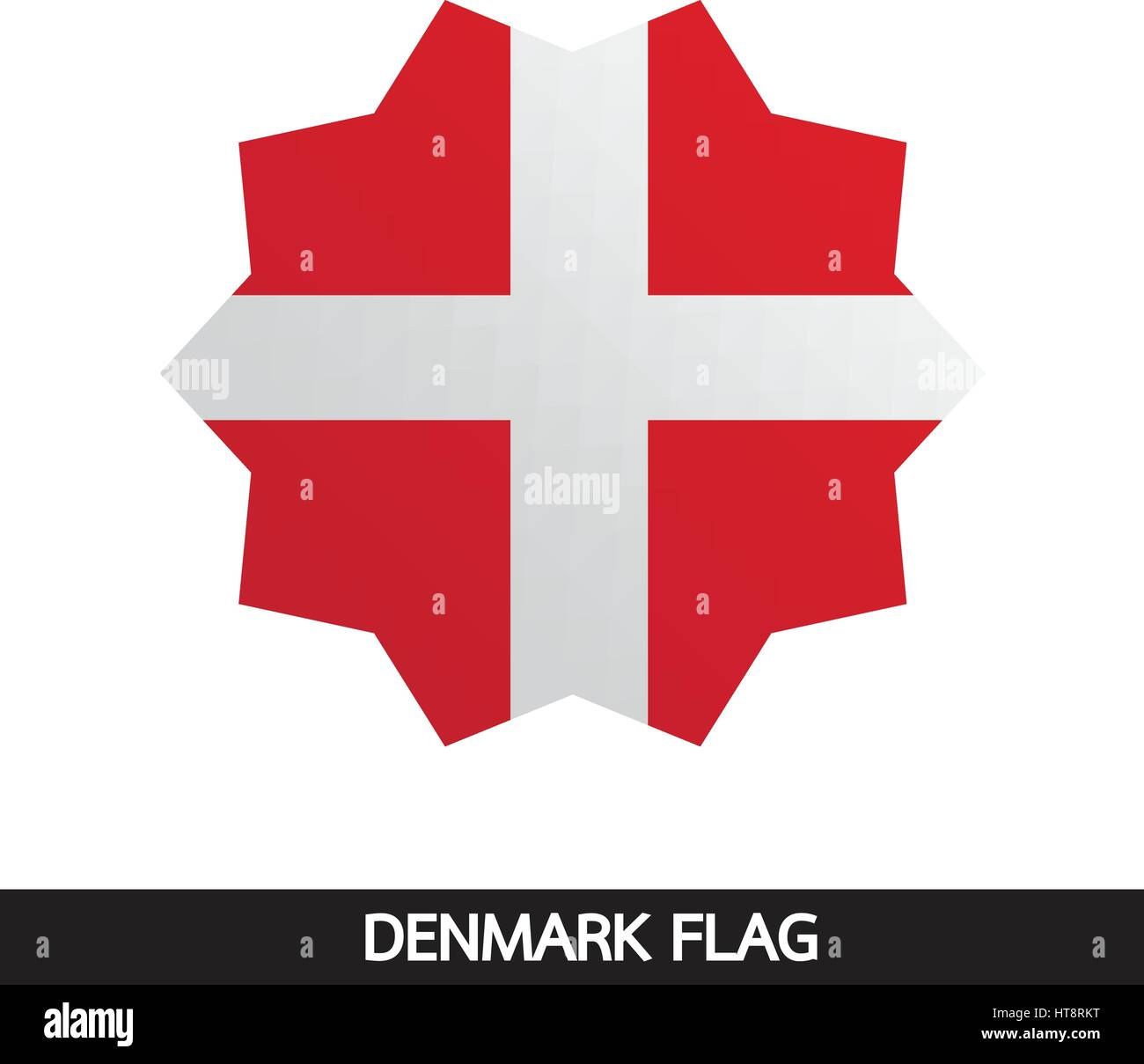 Denmark flag design illustration - Stock Image